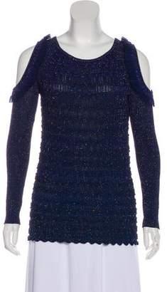 Kenzo Long Sleeve Cold-Shoulder Top
