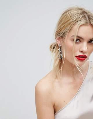 Orelia Statement Multi Star Drop Earrings