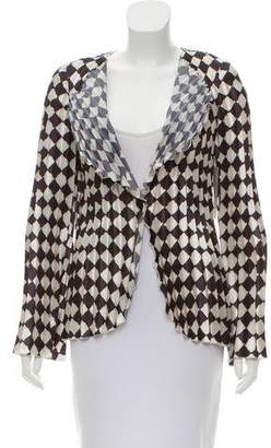 Emporio Armani Printed Pleated Cardigan