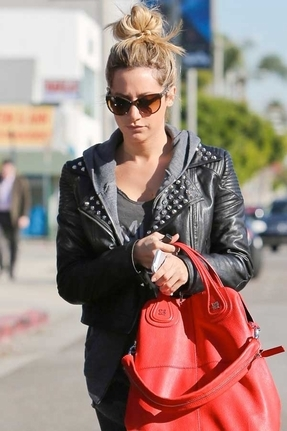 Motel Rocks Tammy Faux Leather Stud Jacket in Black
