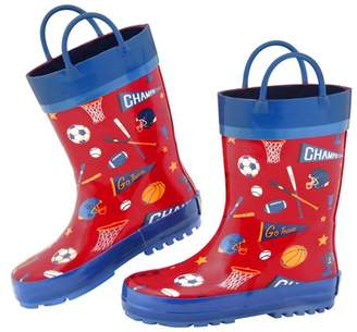 Stephen Joseph All Over Sports Print Rain Boot