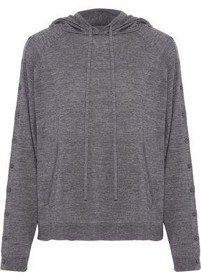 Robert Rodriguez Button-detailed Wool Hooded Sweater