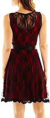 JCPenney Onyx D'Orsay Lace Dress