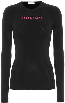 Balenciaga Athletic stretch-jersey top