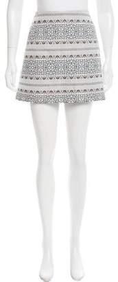 Veda Patterned Mini Skirt