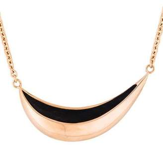 Maiyet Small Wood Curved Necklace