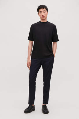 Cos DIAGONAL-RIBBED T-SHIRT