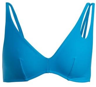 Araks Elias Asymmetric Strap Bikini Top - Womens - Blue