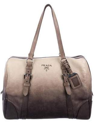 Pre Owned At Therealreal Prada Ombré Glace Bowler Bag