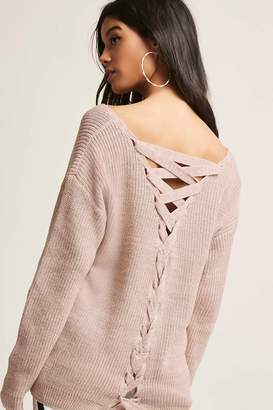Forever 21 Lace-Up Back Sweater