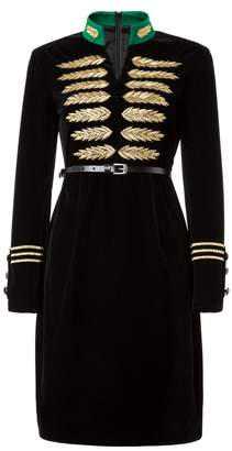 Couture Comino Velvet Military Dress