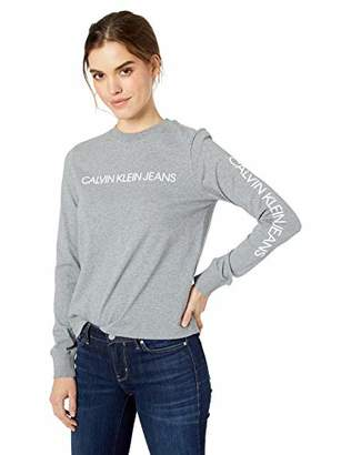 Calvin Klein Women's Long Sleeve Sweatshirt Monogram Logo