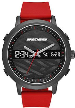 Skechers Men's Quartz Metal and Silicone Casual Watch
