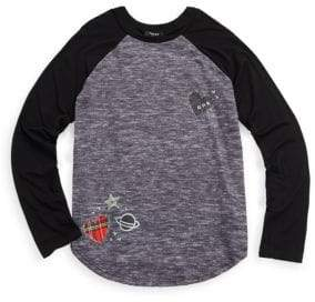 Zara Terez Girl's Lil Patches Raglan Tee