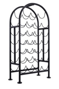 Old Dutch International 27 Bottle Metal Matte Black Wine Rack, Rta