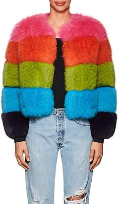 Lisa Perry Women's Striped Fox Fur Coat