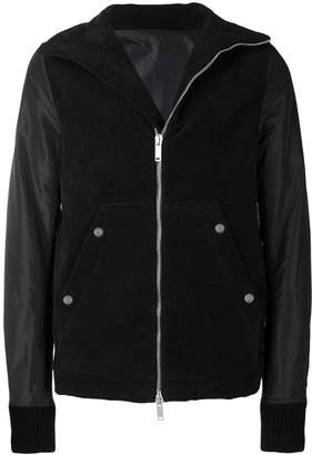 Unravel Project contrast sleeve zipped jacket