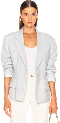 RE/DONE Reconstructed Wool Blazer in Assorted Check | FWRD