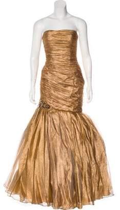 Jovani Metallic Strapless Gown w/ Tags
