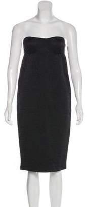 Bottega Veneta Wool Strapless Dress Black Wool Strapless Dress