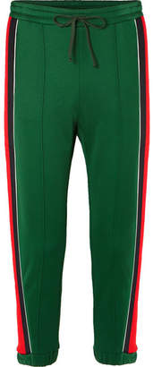 Gucci Striped Tech-jersey Track Pants - Green