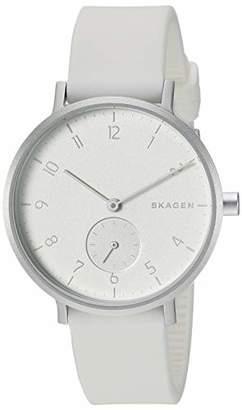 Skagen Men Aaron Kulor Quartz Stainless Steel and Silicone Watch Color:
