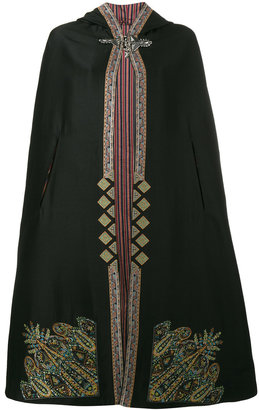 Etro embroidered hooded cape $4,260 thestylecure.com