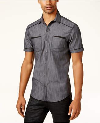 INC International Concepts I.n.c. Men's Shiny Chambray Shirt, Created for Macy's