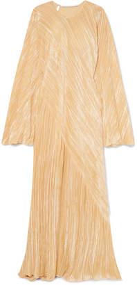 Rosetta Getty Oversized Crushed-velvet Gown - Cream