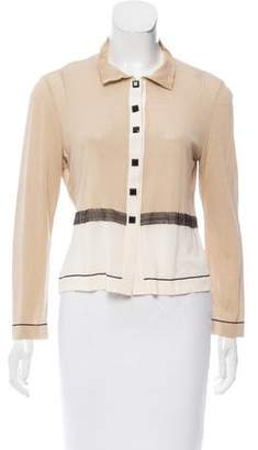Alberta Ferretti Long Sleeve Knit Cardigan