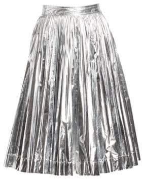 67b0bd10811b Calvin Klein Metallic Pleated A-Line Skirt