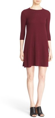 Women's Autumn Cashmere Exposed Seam Cashmere Swing Dress $341 thestylecure.com