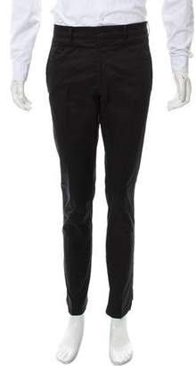 Prada Flat-Front Zip-Detailed Pants