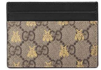 Gucci GG Supreme bees card case