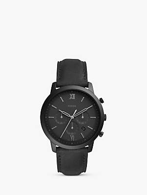 Men's Neutra Chronograph Date Leather Strap Watch