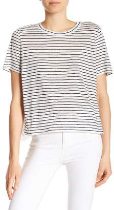 Joie Mikiyo Eyelet Lace Back Striped Tee