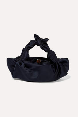 The Row Ascot Small Satin Tote - Navy
