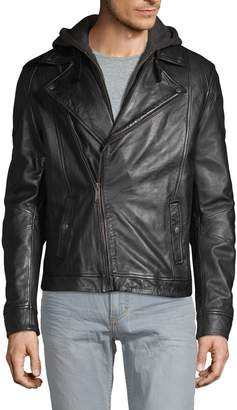 Rogue Hooded Leather Moto Jacket