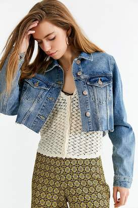 Urban Outfitters BDG Frayed Cropped Trucker Jacket