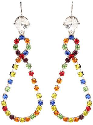 Miu Miu Crystal teardrop earrings