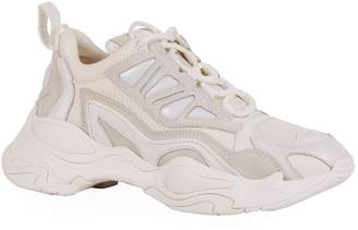 Sandro Leather Trim Chunky Sneakers