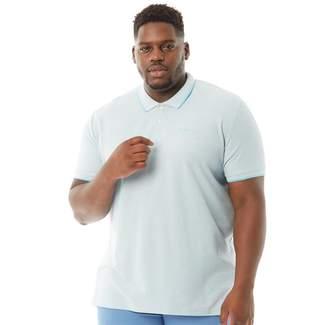 Ben Sherman Plus Size Short Sleeve 2B Tipped Pique Polo Sky Marl