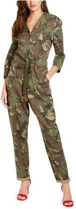 GUESS Juniors' Camo-Print Jumpsuit