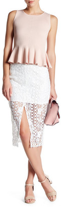 endless rose Lace Midi Skirt $78 thestylecure.com