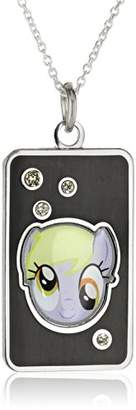 My Little Pony Unisex Fine Silver Plated Crystal Muffins Head Dog Tag Pendant Necklace