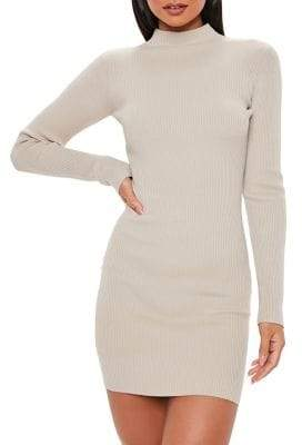 Missguided High Neck Knitted Mini Dress