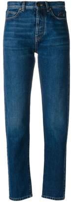Saint Laurent logo embroidered jeans