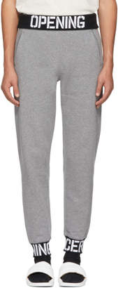 Opening Ceremony Grey Elastic Logo Fitted Lounge Pants