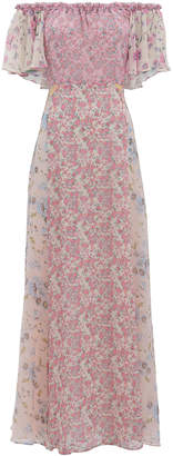 LoveShackFancy Evelyn Mixed Floral Dress