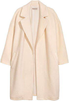 H&M H&M+ Wool-blend Coat - White